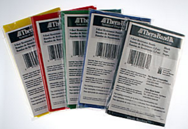 Thera-band latex exercise band packs